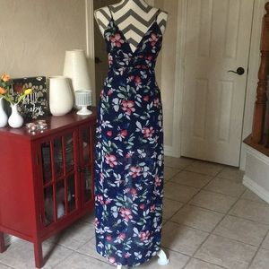 NWT Floral Maxi with Side Cut Outs